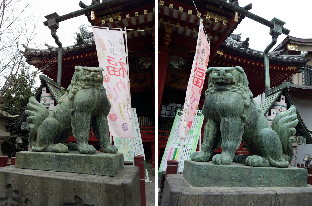 狛犬(浅草神社)